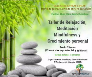 TALLER DE RELAJACION Y MINDFULNESS