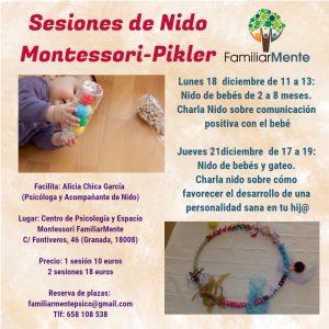 SESIONES DE NIDO MONTESSORI PIKLER EN DICIEMBRE
