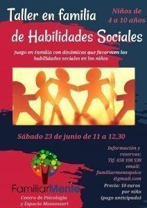 TALLER DE HABILIDADES SOCIALES EN FAMILIA