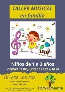 TALLER MUSICAL EN FAMILIA