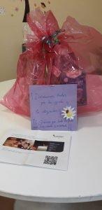 Detalle de agradecimiento de las mamás y papás del taller de Mindful Parenting